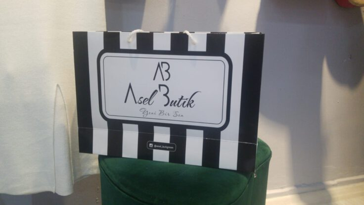 Logo Baskılı Karton Poşet